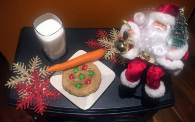 Giant Cookie for Santa